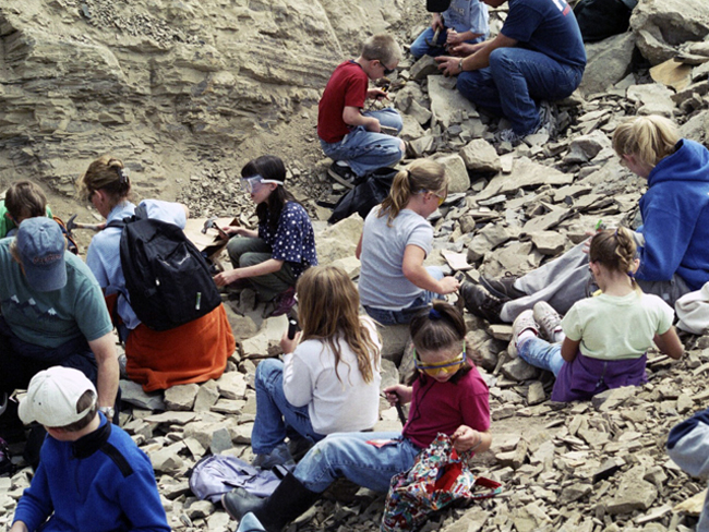 Class at Fossil Site